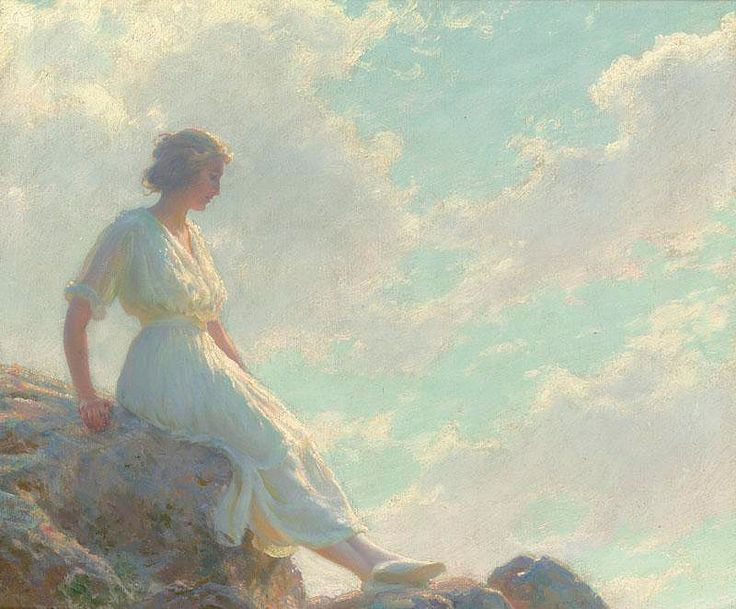 A Seat on the Summit Charles Courtney Curran - 1920